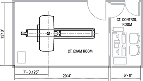 Typical CT Exam Room Suite Layout