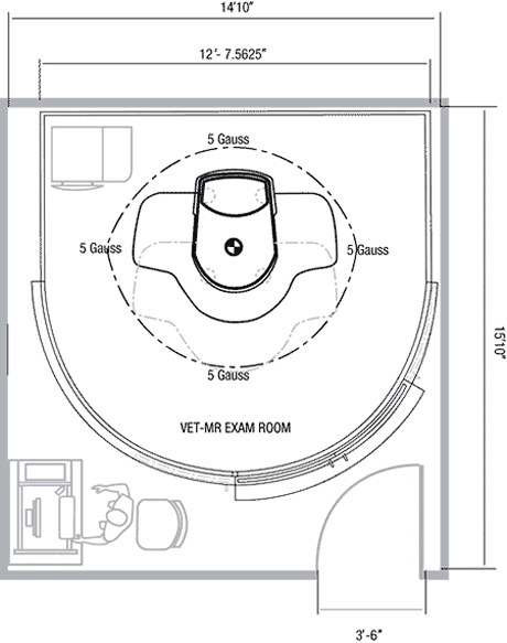 Vet MR Scan Suite Layout
